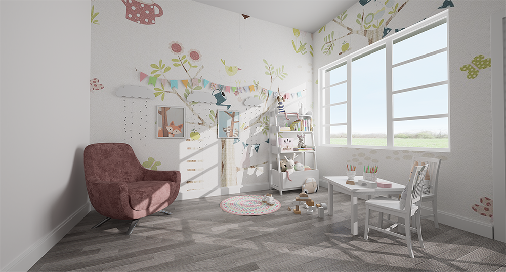 Highmark Homes interiors in downtown Whitby showcasing the kids room