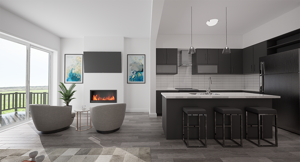 Highmark Homes interiors in downtown Whitby